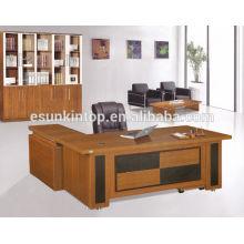 Mesa de aparência de folheado wenge de boa aparência, fabricante de móveis de escritório profissional