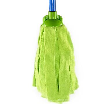 Vert bonne vadrouille ronde de coton de nettoyage de plancher de ménage d'effet de nettoyage vert