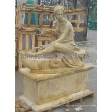 Geschnitzte Steinstatue Carving Marmor Skulptur mit Granit Sandstein (SY-X1389)
