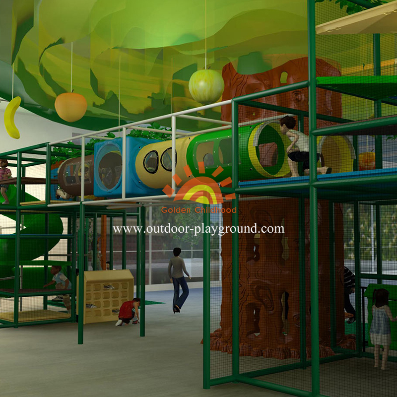 Jungle Themed Playground Structure