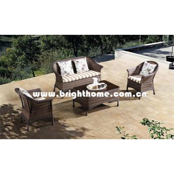 Mejor venta de mimbre sofá al aire libre conjunto de muebles Bp-8019A