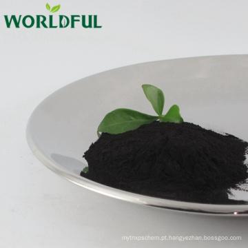 Ácido fúlvico mineral vegetal natural, fulvato de potássio orgânico fertilizante em pó brilhante