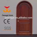 Material seleccionado personalizado puertas de madera maciza arqueadas para la entrada