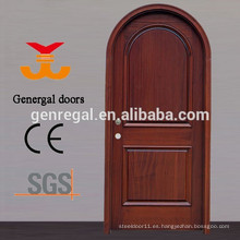 CE estándar Pintura sólida puerta de madera de arco