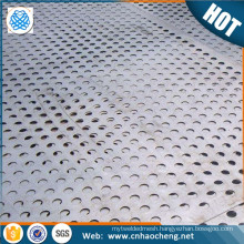 0.5mm thickness 1.2m width custom aluminum stainless steel perforated sheet plate