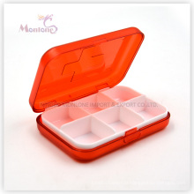 Boîte à pilules 6 grilles, boîte à pilules en plastique, boîte à pilules 1 boîte