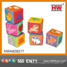 2015 novo design brinquedos de pelúcia bebê blocos macios