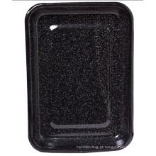 (LONGFEI) moderno estilo retângulo forma esmalte bandeja de fritar / placa de alimentos