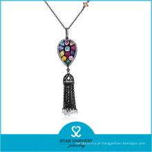 Colar de jóias de prata de moda de alta qualidade com pedra (N-0329)