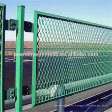 Billig PVC beschichtet Expanded Metall Zaun Hersteller (Fabrik)