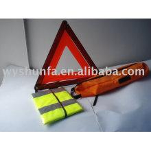 Kit de sécurité / triangle d'avertissement E-MARK, gilet de sécurité CE
