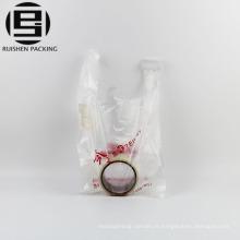 Vente chaude t-shirt emballage hdpe en plastique sac