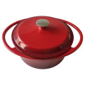 Enamel Cast Iron Round Casserole with Two Handles