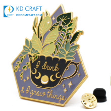 Manufacturer wholesale metal souvenir glitter powder cute anime cartoon lapel pin badge custom logo hard enamel pin