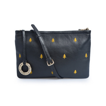 Authentische Leder Clutch Bag Struktur Night Out Bag