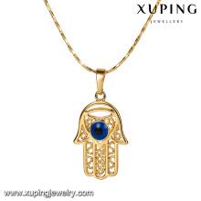 32797 Bijoux en cuivre Xuping Pendentif design hamsa en or 18 carats