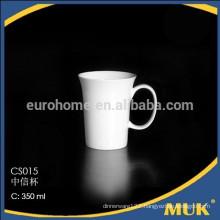 hotelware ceramic sell restaurant elegant pure white coffee mugs