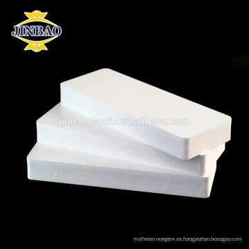 JINBAO expandió láminas de espuma de pvc a prueba de agua blanca 8mm
