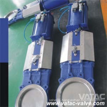 Pneumatic Operated Wcb Wafer Knife Gate Valve