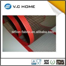 Vente directe de tissu en maille de fibre de verre teflon résistant à la chaleur haute densité en usine