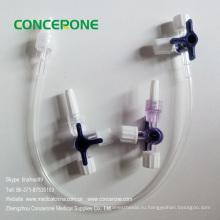 IV жидкости удлинитель с три контактный разъем (3-ходовым краном)
