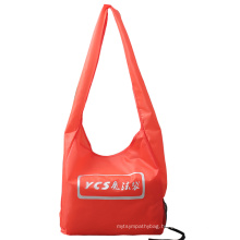 Durable recycle polyester fabric long strap single shoulder bag