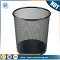 Factory price stainless steel round storage basket/dustbin/wastebasket
