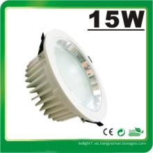 Lámpara LED Dimmable 15W LED Down Luz LED Luz