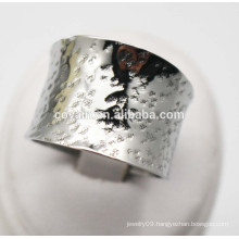Women fashion jewelry steel Curved large big wide silver ring