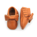 Brown Leather Moccasins Wholesale Cute Baby Shoes