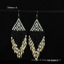 Nationalen Stil handgefertigte Samen Perle Ohrring