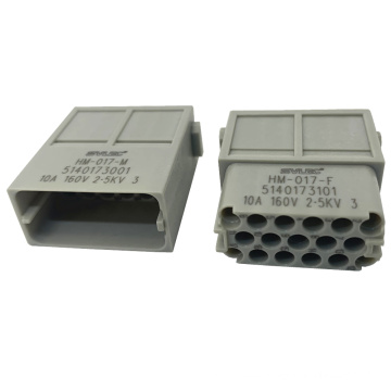 Polycarbonate heavy duty female and male connector