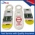 China Manufacturer Plastic Scaffolding Tag Holder with Tag and Marker Pens
