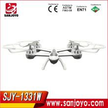 SKY HAWK 1331 2.4G 4CH 6 ejes gyro drone de Wifi FPV RC Helicóptero en tiempo real 2MP HD Cámara RC Quadcopter Juguetes SJY-1331W