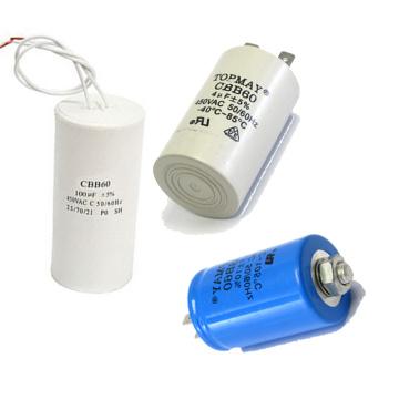 Topmay AC Motor Run Electrolytic Capacitor Cbb60 para ventilador