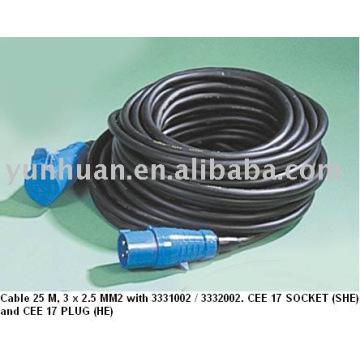Eco Power Cable Câble extension portable Cee 17 standard VDE CE approbation
