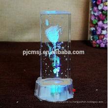 3D лазерный кристалл с изображением мультфильм на День Святого Валентина подарки