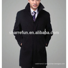 Luxury classic style men's cashmere overcoat Made in China