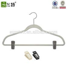 Popular Finished Wholesale Velvet Hanger with clips