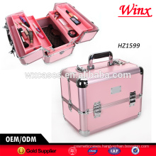 2015 Professional hard aluminum cosmetic case , aluminum case with different colors for sale