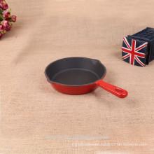 Non-stick round cast iron frying pan