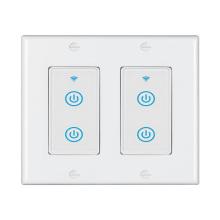 No Neutral Smart Life Tuya APP Alexa Google Home Voice Control 2 Way 2 Gangs US New WiFi ZigBee Smart Push Button Wall Switch