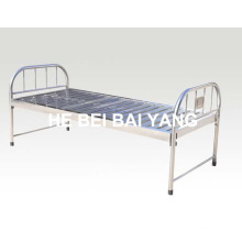 Toda a cama de hospital Flat Flat de aço inoxidável