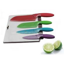 4PCS buntes Plastikhandgriff-Küche-Messer-Satz (SE-3547)