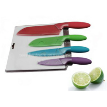 4PCS Colorful Plastic Handle Kitchen Knife Set (SE-3547)