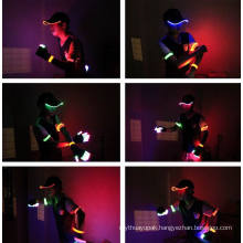 Custom LED Light Hats Hard Hat with Light Cotton Baseball
