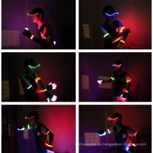 Пользовательские светодиодные шляпы шлем с легкий хлопок Бейсбол