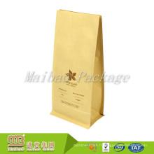 Usine Fournisseur Guérir En Plastique Doublé Flexible Emballage Impression Personnalisée Plat Bas Kraft Papier Poche