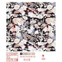 Lycra Nylon Fabric with Flower Print
