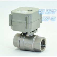 """3/4""""Miniature 2 Way Stainless Steel Electric Ball Valve (T20-S2-C)"""